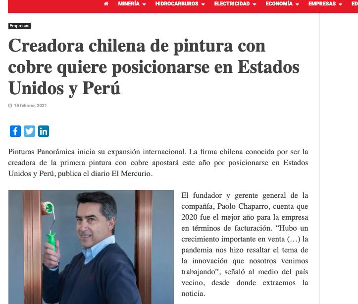 Creadora chilena de pintura con cobre quiere posicionarse en Estados Unidos y Perú